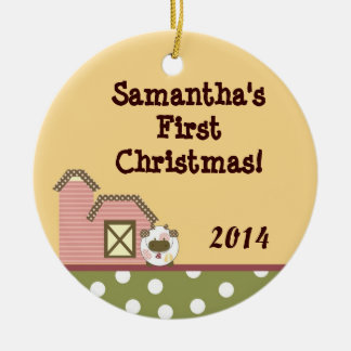 Ornamento conocido personalizado Co del granero Adornos De Navidad