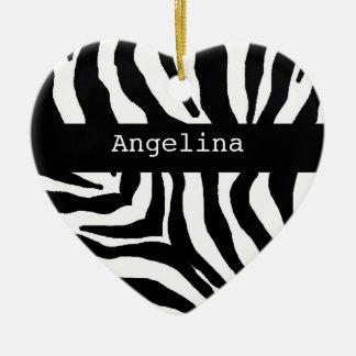 Ornamento conocido personalizado estampado de adorno navideño de cerámica en forma de corazón