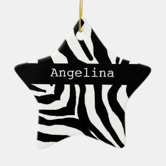 Ornamento conocido personalizado navidad del adorno navideño de cerámica en forma de estrella