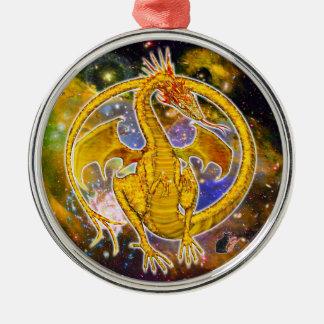 Ornamento cósmico del dragón del Topaz Adornos De Navidad