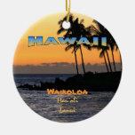 Ornamento: Crepúsculo en Waikoloa (círculo) Ornamento Para Arbol De Navidad