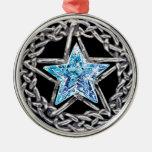 Ornamento cristalino de la estrella del Pentagram Ornamentos De Reyes Magos