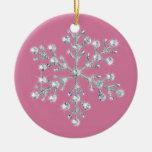 Ornamento cristalino del copo de nieve adornos