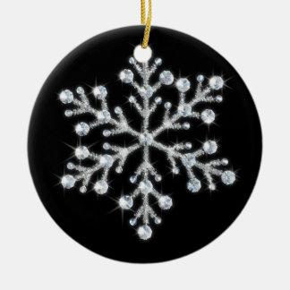 Ornamento cristalino del copo de nieve ornatos