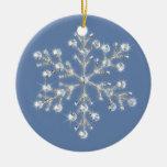 Ornamento cristalino del copo de nieve ornamente de reyes