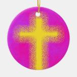 Ornamento cruzado adornos de navidad
