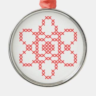 Ornamento cruzado de la puntada del átomo adorno