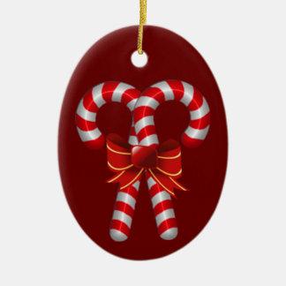 Ornamento cruzado de los bastones de caramelo ornamente de reyes