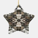 Ornamento cruzado de plata de la estrella del mosa adorno de reyes
