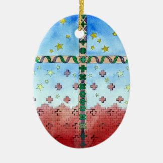 Ornamento cruzado del navidad de la acuarela ornamento para reyes magos