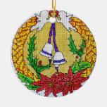 Ornamento cruzado del navidad del estilo de la ornamentos para reyes magos