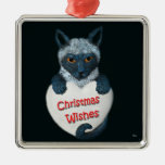 Ornamento cuadrado de los deseos del navidad del g ornamento de navidad