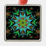 Ornamento cuadrado superior #5 del caleidoscopio ornaments para arbol de navidad