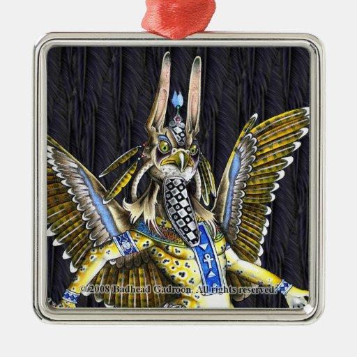 Ornamento cuadrado superior de Bennu-Nahroe Adorno Para Reyes