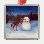 Ornamento cuadrado superior de la curiosidad ornamento para arbol de navidad