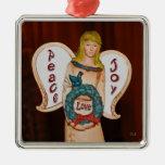 Ornamento cuadrado superior del ángel adorno