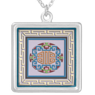 Ornamento cuadrado tibetano colgante cuadrado