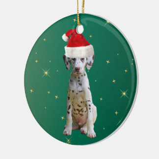 Ornamento dálmata del día de fiesta del navidad ornamento para arbol de navidad