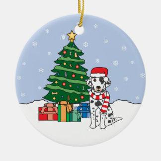 Ornamento dálmata del navidad adornos