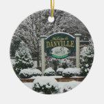 Ornamento Danville Pennsylvania Adorno Redondo De Cerámica