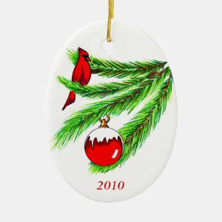 Ornamento de 2010 cardenales ornamentos de reyes