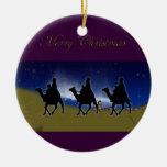 Ornamento de 3 de los hombres sabios navidad de ornamento para arbol de navidad