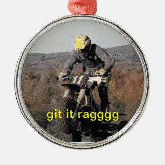 ornamento de 3 policías motorizados adorno navideño redondo de metal