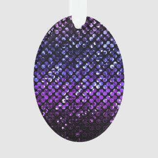 Ornamento de acrílico Bling cristalino púrpura