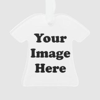 Ornamento de acrílico del árbol de la camiseta en