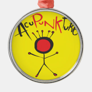 Ornamento de Acupunkture Adorno Navideño Redondo De Metal