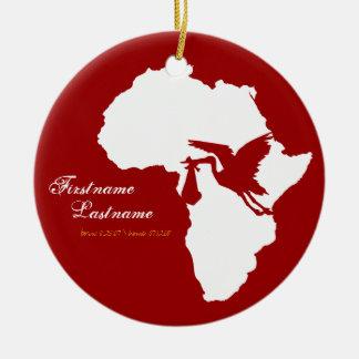 Ornamento de África de la cigüeña de la adopción Ornamentos De Navidad