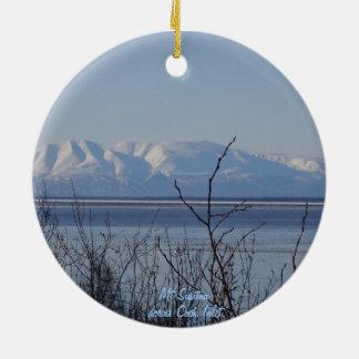 Ornamento de Anchorage/Mt Susitna Adorno Navideño Redondo De Cerámica