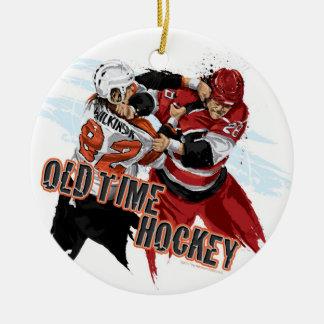 Ornamento de antaño del navidad del hockey ornamentos de navidad