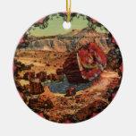 Ornamento de Arizona del vintage del bosque aterro Ornaments Para Arbol De Navidad