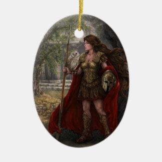 Ornamento de Athena de la diosa Adorno Ovalado De Cerámica