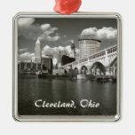 Ornamento de B/W Cleveland Ornamento Para Arbol De Navidad