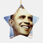 Ornamento de BARACK OBAMA Adorno Navideño De Cerámica En Forma De Estrella