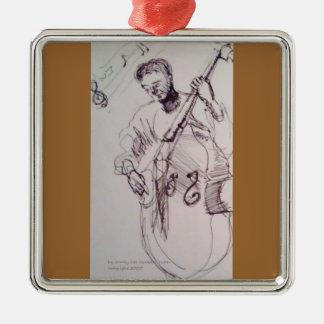Ornamento de Bassman Adorno Navideño Cuadrado De Metal