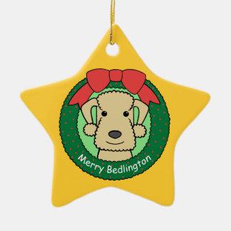 Ornamento de Bedlington Terrier Adorno De Reyes