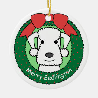 Ornamento de Bedlington Terrier Adorno Para Reyes