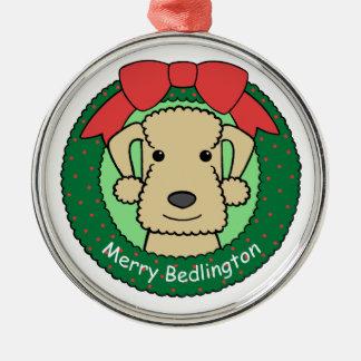 Ornamento de Bedlington Terrier Ornamento Para Arbol De Navidad