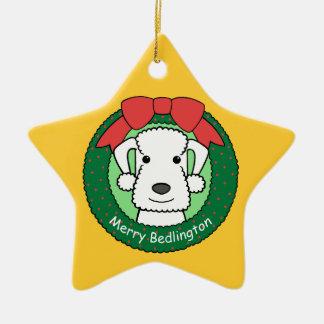 Ornamento de Bedlington Terrier Ornamento Para Reyes Magos