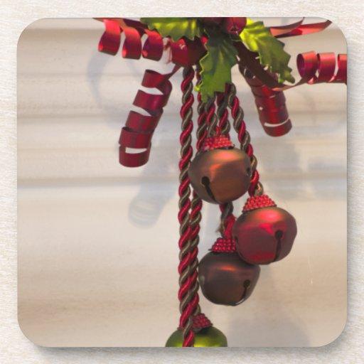 Ornamento de Bell de navidad Posavasos