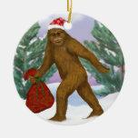 Ornamento de Bigfoot Santa Ornamentos De Navidad