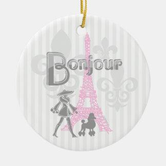 Ornamento de Bonjour París 2 Adorno Para Reyes