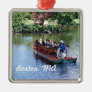 Ornamento de Boston Adorno Cuadrado Plateado