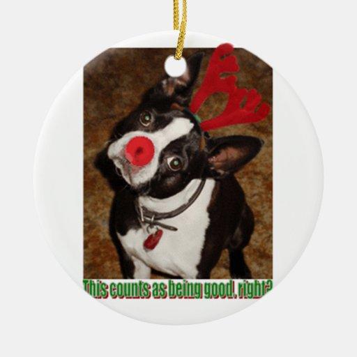 Ornamento de Boston Terrier Ornamento De Navidad