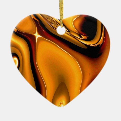 Ornamento de bronce abstracto adornos de navidad