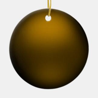 Ornamento de bronce del orbe del satén ornamentos de navidad