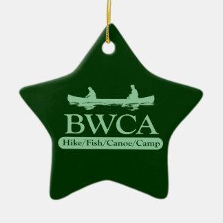 Ornamento de BWCA en verde Adorno De Cerámica En Forma De Estrella